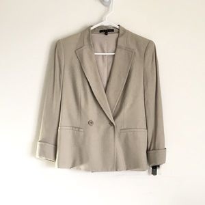 Theory Bastian Double-Breasted Suit Blazer Jacket